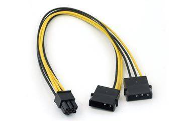 Kabeladapter - 4 pin til 6 pin PCI-E