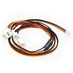 3 pin Y-kabel til 4 stk 3 pin 12V