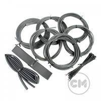 CableModders Sleeving Kit - Medium - Carbon Sort
