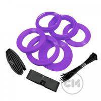 CableModders Sleeving Kit - Medium - UV Lilla