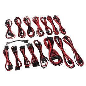 CableMod - E-Series G2 / P2 Cable Kit - Black / Red